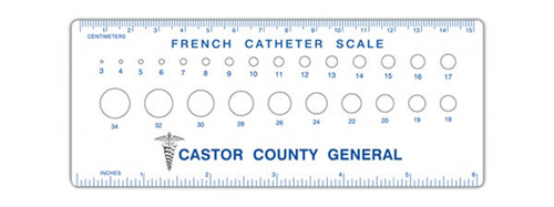 Promotional Imprinted French Catheter Scales
